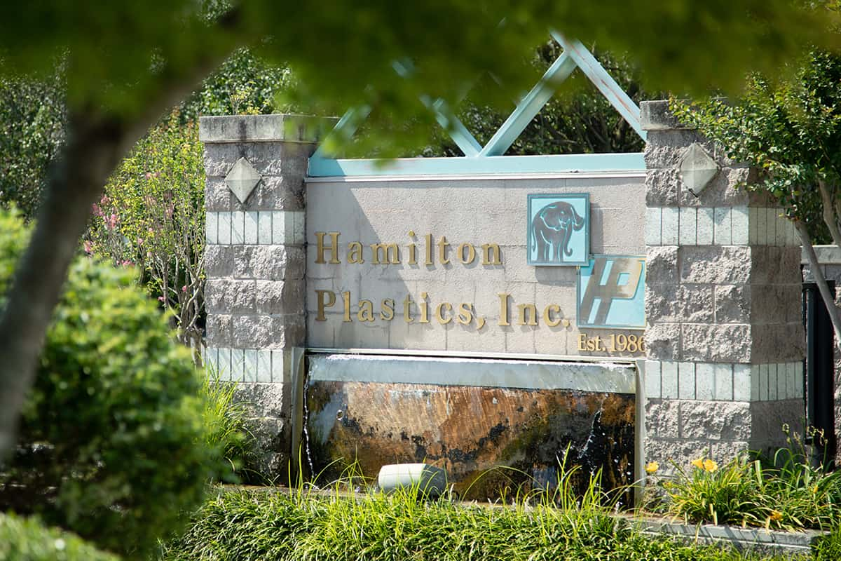 Entrance to Hamilton Plastics
