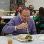 Eating at the Hamilton Plastics Christmas Party