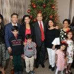 Large Family at the Hamilton Plastics Christmas Party