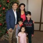 Family at the Hamilton Plastics Christmas Party