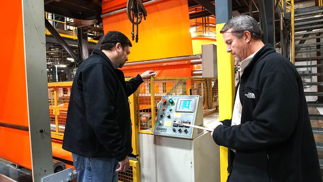 Men working at Hamilton Plastics.