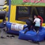 Kids playing at the Hamilton Plastics Christmas Party
